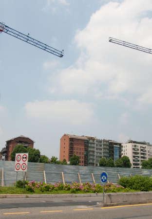 urban construction area Stock Photo