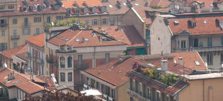 Rooftops in Torino Italy Stock Photo