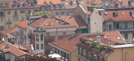 Rooftops in Torino Italy Stock Photo
