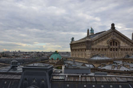 Rooftops and the Opera House in Paris Stock Photo