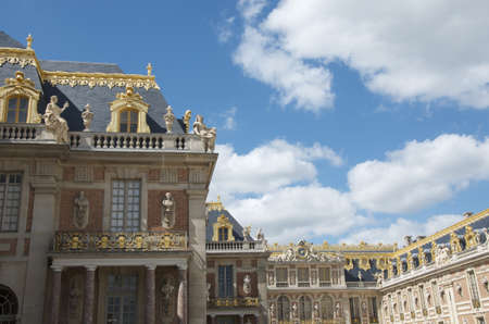 Detail of front of Versailles Palace on a Summer day Stock Photo