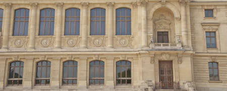 Detail of old historical building in Paris