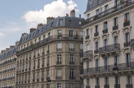 paris street: Apartment buildings in Paris