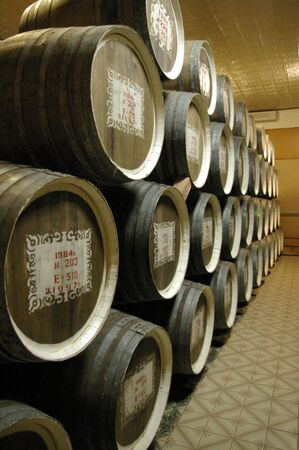 kuban: Wine cellar; wine; flanks; storage to store wine; wine in flanks; winter; storehouse; a snow; flanks in a snow; a wine cellar in a snow; good wine; the Kuban wine; Russian wine; oak flanks; cognac