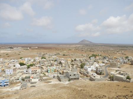 African town in desert Standard-Bild