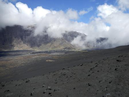 lava field: Fogo volcano lava field in Cape Verde, Africa Stock Photo