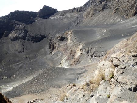 volcanism: Inside a volcanic crater