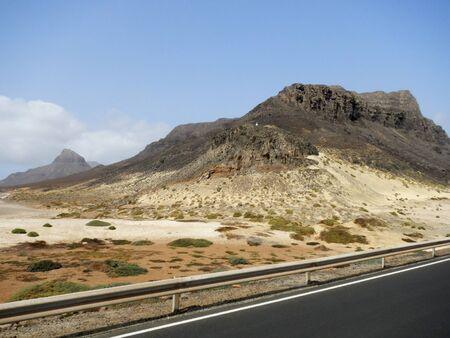 Road in der Steinwüste