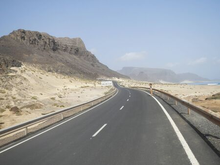 Road in stone desert