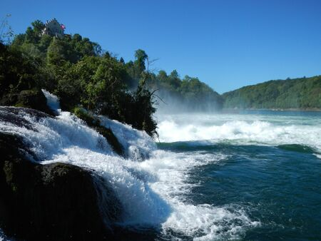 The Rhine waterfalls in Schaffhausen