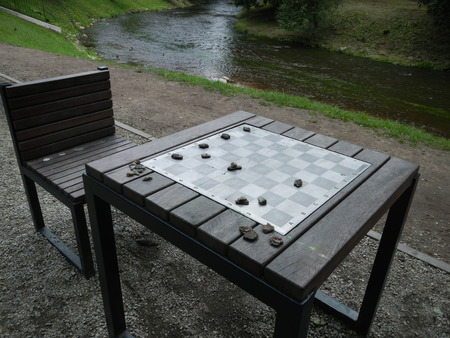 Chess board and table
