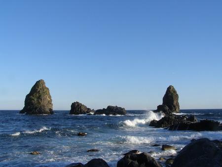 Klippen auf Sizilien Küste