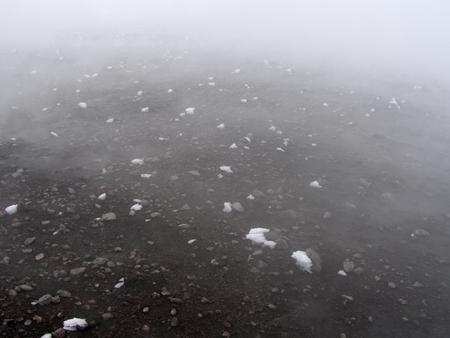Eiskristalle auf heiße Vulkanasche