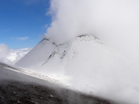 Etna volcano in winter Standard-Bild