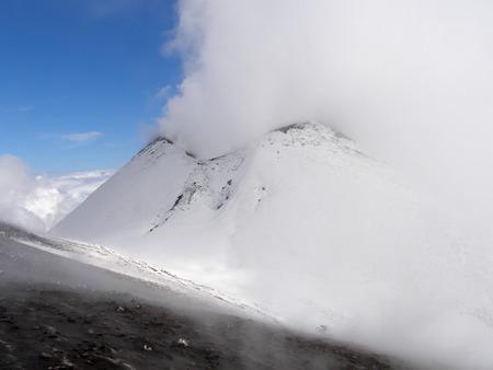 Vulkan Ätna im Winter
