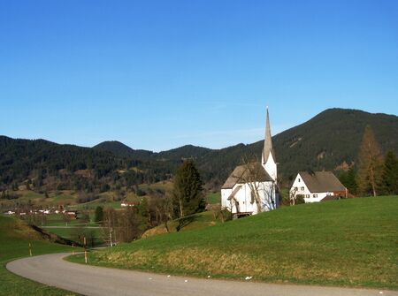 Church in Oberammergau, Bavarian Alps