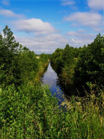 taiga: River in Russian taiga Stock Photo