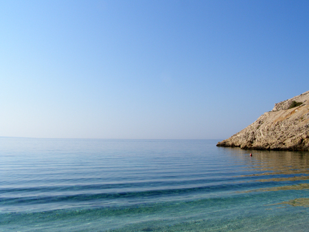 secluded: Secluded empty beach in Croatia