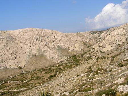 krk: Mountains of the Krk island, Croatia Stock Photo