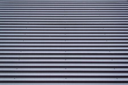 metal sheet: Grey corrugated metal sheet texture