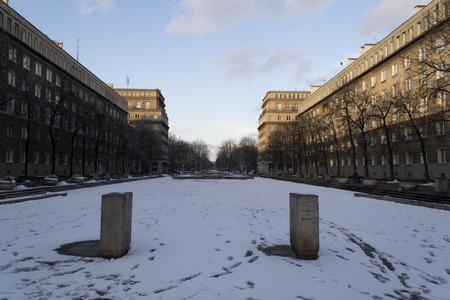 central square: Centrale di piazza a Nowa Huta, Cracovia