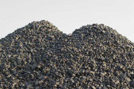 Heap of black coal