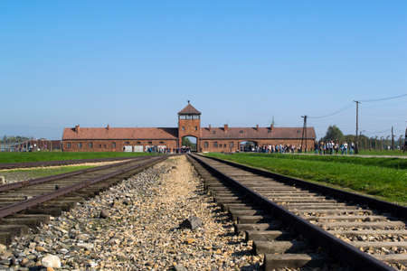 liberate: Main entrance to Auschwitz