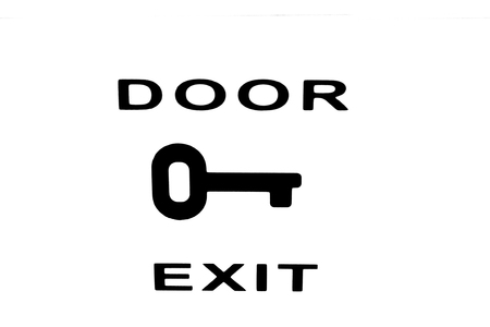Door exit pictogram