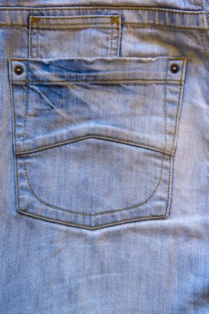 blue denim: Blue denim jeans pocket