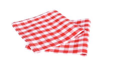 red table napkins on white background isolated Reklamní fotografie