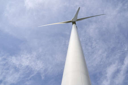 The windmill power plant is very high Фото со стока