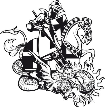 saint george: Vector illustration of knight