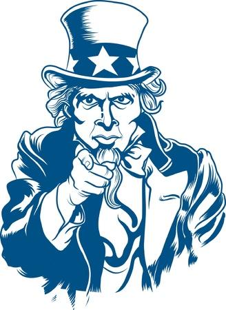 i want you: Vector illustration of Uncle Sam Illustration