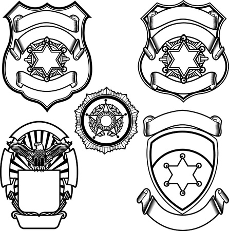 police badge: Vector illustration of sheriff badge