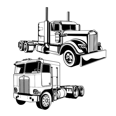 vehicle: Vector illustration of trucks
