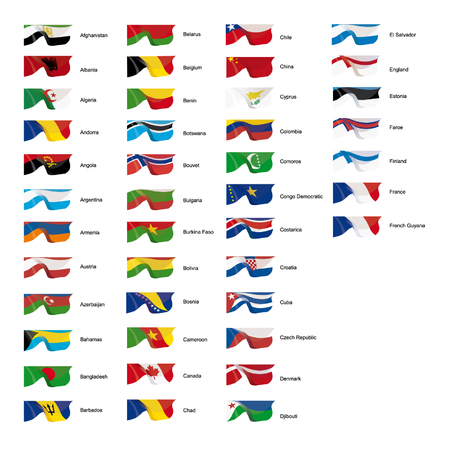 Vector illustration of world flags Vector