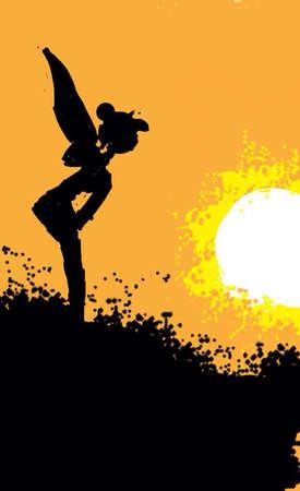 lewis: Tinkerbell at Sunset Illustration