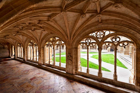 cloister: Gallery in the cloister of Jeronimo?s Monastery in Belem, Lisbon