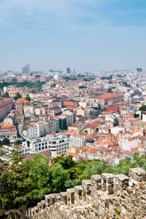 rooftops: View of the rooftops of Lisbon,