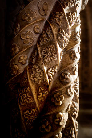 Detail of a column in the cloister of Jeronimo?s Monastery photo