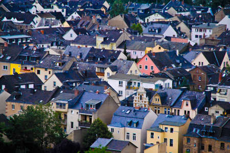 residencial: View of the rooftops in Lausanne, Switzerland