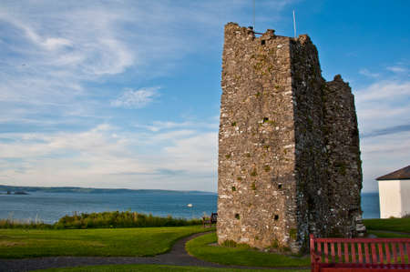 tenby wales: Remains of the tower  in Tenby, Wales Stock Photo