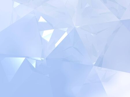 crystal background: Abstract background with an elegant play of soft blue light and reflections. This image is a 3D computer visualization of the interior of a diamond. Stock Photo