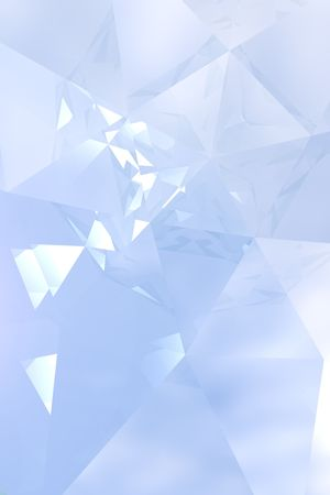Abstract background with an elegant play of soft blue light and reflections. This image is a 3D computer visualization of the interior of a diamond. Stock fotó