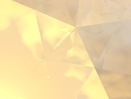 Abstract background with an elegant play of soft golden light and reflections. This image is based on a 3D computer visualization of the interior of a diamond.