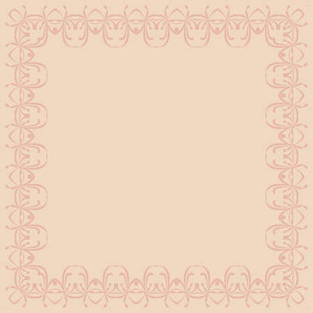 abstract pink: Abstract pink calligraphic border over the pink background
