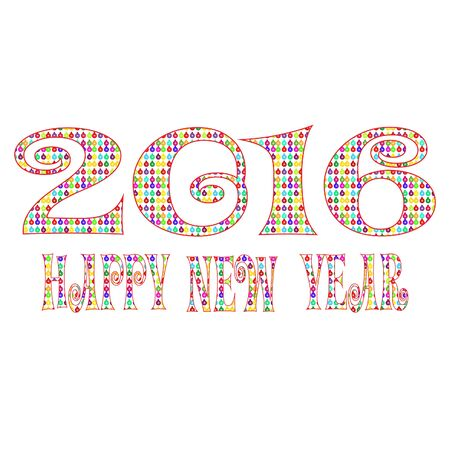 gree: Happy new year 2016 over the white background Illustration