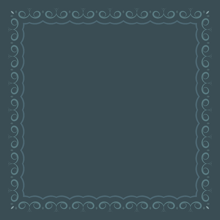 deep: Grey  frame over deep grey background, abstract, calligraphic