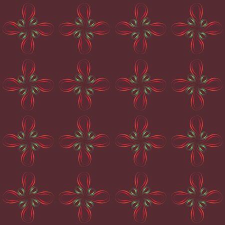 dark brown background: Seamless pattern over the dark brown background