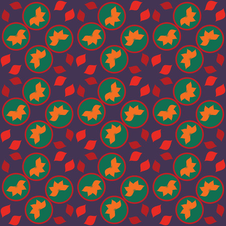 coloful: Seamless pattern over the dark blue background, with coloful geometric elements